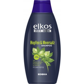 elkos For men Hopfen & Meersalz Shampoo 0,5 ltr