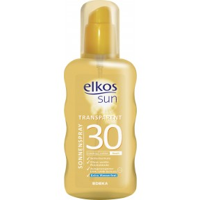 elkos Sun Sonnenspray transparent LSF 30 200 ml