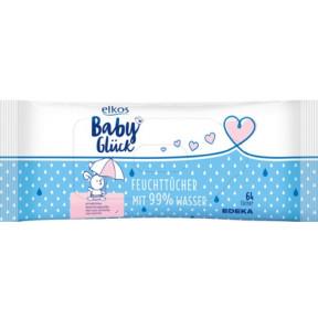 elkos Babyglück Feuchttücher mit 99% Wasser 64 Stück