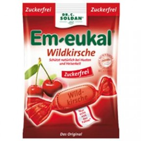 Em-Eukal Wildkirsche Hustenbonbons zuckerfrei