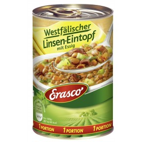 Erasco 1 Portion Westfälischer Linsen-Eintopf mit Essig 400 g