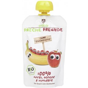 Erdbär Bio Freche Freunde Apfel, Banane & Himbeere