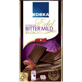 EDEKA Schweizer Edel Bitter Mild 81% Cacao