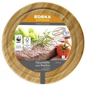 EDEKA zuhause Fleischteller aus Bambus 26 cm