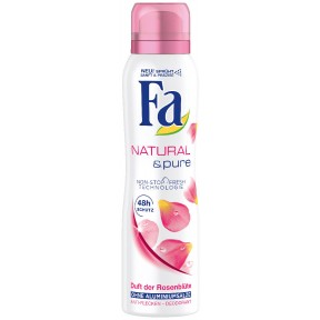 Fa Deospray Natural & pure Duft der Rosenblüte 150 ml