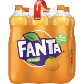 Fanta Orange Sixpack PET 6x 1,25 ltr