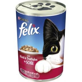 Felix Dose mit Rind & Truthahn in Soße Nassfutter