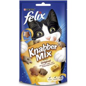 Felix Knabber Mix Leckerlis Original mit Huhn-, Leber- und Truthahngeschmack 60G