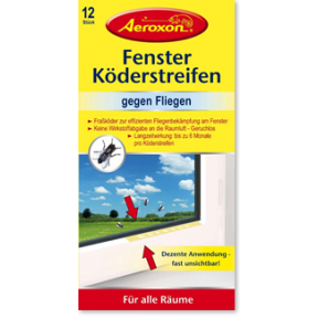 Aeroxon Fenster Köderstreifen gegen Fliegen 12 Stück