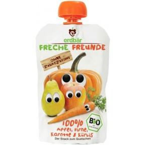 Erdbär Bio Freche Freunde Apfel, Birne, Karotte & Kürbis