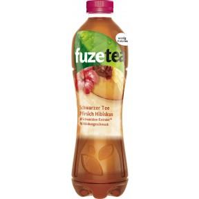 Fuze Tea Schwarzer Tee Pfirsich Hibiskus 1 ltr PET