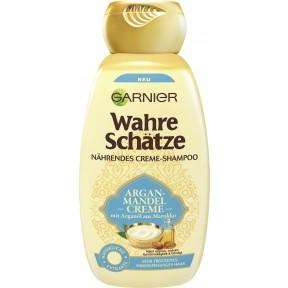 Garnier Wahre Schätze Argan-Mandelcreme Reichhaltiges Creme-Shampoo 250 ml