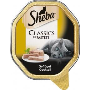 Sheba Classics in Pastete Geflügel Cocktail Katzenfutter nass
