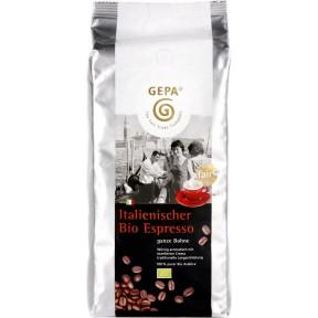 GEPA Fairtrade Italienischer Bio Espresso ganze Bohnen 1 kg