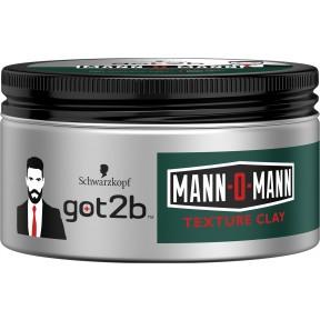 Schwarzkopf got2b Mann-O-Mann Texture Clay Paste Halt 5 100 ml