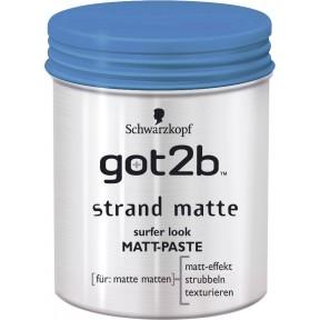 Schwarzkopgf got2b Strand Matte Surfer-Look Matt-Paste 100 ml