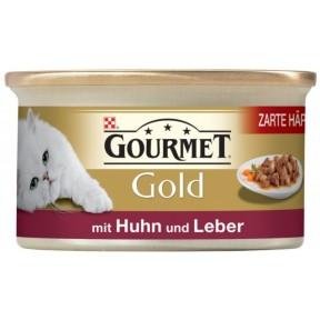 Gourmet Gold mit Huhn und Leber Katzenfutter nass