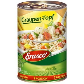 Erasco 1 Portion Graupentopf 400 g