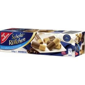 Gut & Günstig Schoko Röllchen Vollmich 125 g