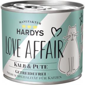 Hardys Love Affair Kalb & Pute Katzenfutter nass 200G