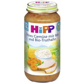 Hipp Bio Feines Gemüse mit Reis und Bio-Truthahn ab 12. Monat