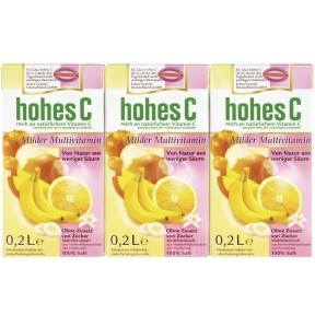 Hohes C Milder Multivitaminsaft 3x 200 ml