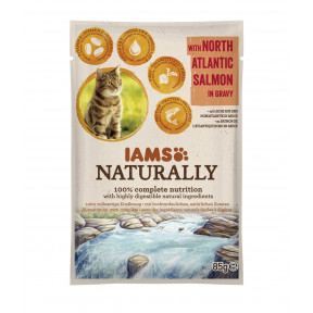 IAMS Naturally mit Lachs Katzenfutter nass 85G