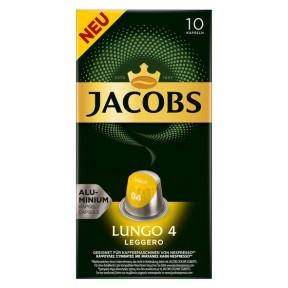 Jacobs Lungo 4 Leggero Nespresso kompatible Kapseln 10x 5,2 g