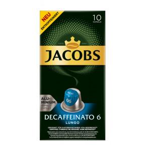 Jacobs Lungo 6 Decaffeinato Nespresso kompatible Kapseln 10x 5,2 g