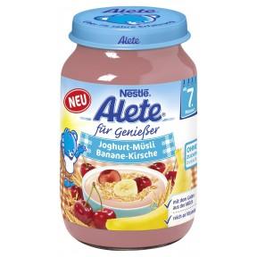 Alete für Genießer Joghurt-Müsli Banane-Kirsche ab dem 7. Monat