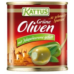 Kattus Manzanilla Oliven mit Jalapenocreme gefüllt
