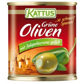 Kattus Manzanilla Oliven mit Jalapenocreme gefüllt 200 g