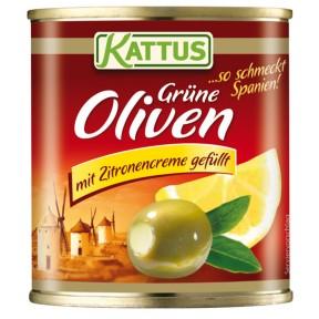 Kattus Oliven mit Zitronencreme gefüllt