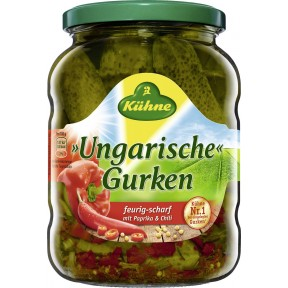 Kühne Ungarische Gurken mit Paprika und Chili