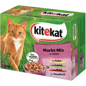 Kitekat Markt-Mix in Gelee Katzenfutter nass Multipack