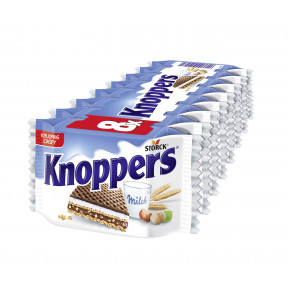 Knoppers Milch-Haselnuss-Schnitte 8er Packung