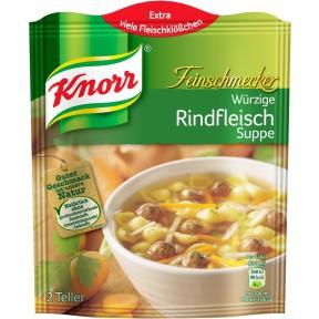 Knorr Feinschmecker Rindfleich Suppe für 2 Teller