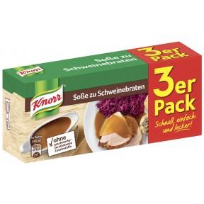 Knorr Soße zu Schweinebraten Dreierpackung