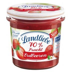 Landliebe Fruchtaufstrich 70% Erdbeere 185 g
