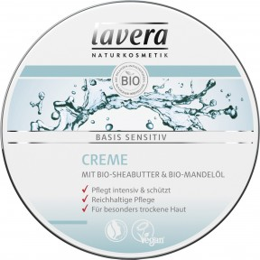 lavera Naturkosmetik Basis Sensitiv Creme 150 ml
