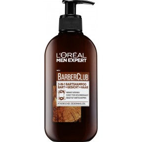 Loreal Men Expert Barber Club 3in1 Bartshampoo für Bart, Gesicht & Haar 250 ml