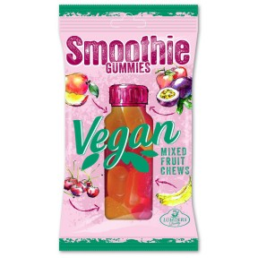 Lühders Smoothie Gummies Vegan Mixed Fruit Chews Kiba & Exotic 80 g