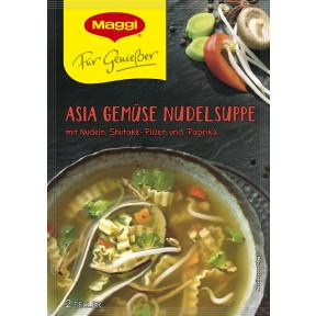 Maggi Für Genießer Asia Gemüse Nudelsuppe ergibt 500 ml