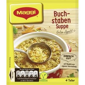 Maggi Guten Appetit! Buchstaben Suppe ergibt 1 ltr