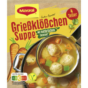 Maggi Guten Appetit Grießklößchen Suppe ergibt 1L