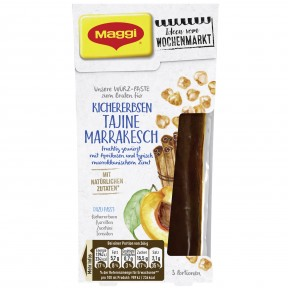 Maggi Wochenmarkt Würzpaste Kichererbsen Tajine Marrakesch