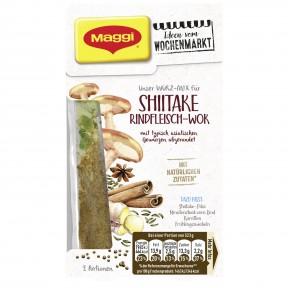 Maggi Wochenmarkt Würzmix Shiitake Rindfleisch-Wok