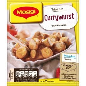 Maggi Idee für Currywurst