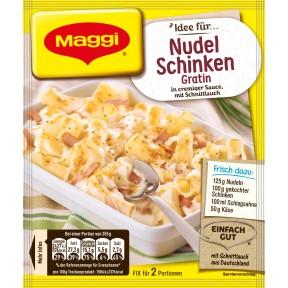 Maggi Idee für Nudel-Schinken-Gratin 28 g