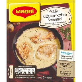 Maggi Idee für Kräuter-Rahm Schnitzel 42 g